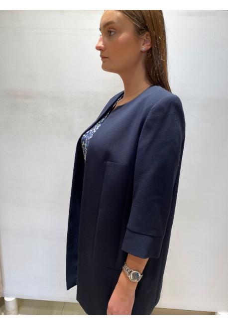Veste longue bleue